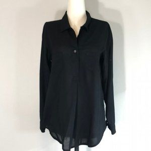 Tower Brand Black Pop-over Tunic Top